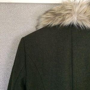 LOFT Jackets & Coats - S LOFT Fur Trimmed Jacket New